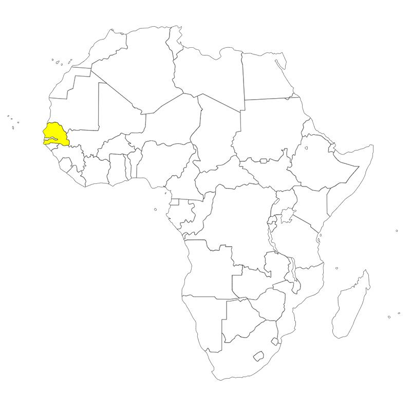 セネガル 位置