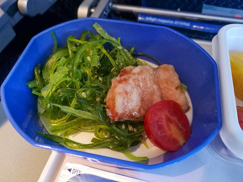 モンゴル旅行 MIATモンゴル航空 機内食